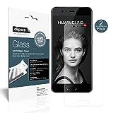 Huawei P10 Schutzfolie matt - 2x dipos Glass Panzerfolie 9H Folie Antireflex Kunststoffglas