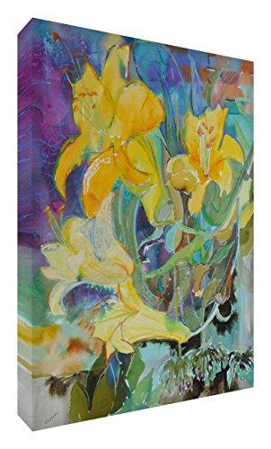 Feel Good Art vj-cascadinglillies1624-15fr Leinwand leuchtenden Farben Abstrakt gehören des Künstlers Val Johnson Lilie Blüte 60x 40x 4cm groß (Leinwand Fr)