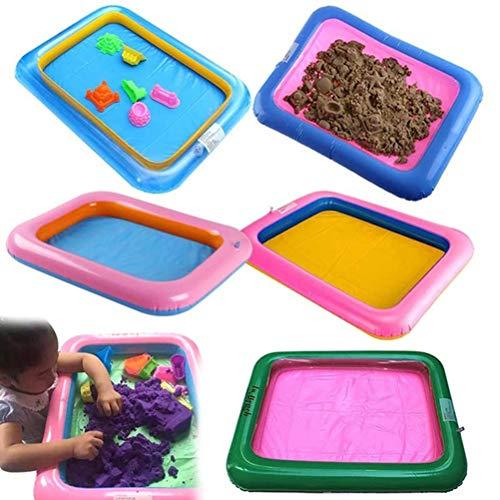AimdonR Aufblasbare Schloss Sandkasten Sandkasten Behälter Tabelle des Innen PVC aufblasbares Indoor Spielzeug