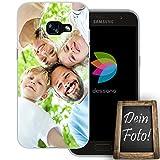 dessana Eigenes Foto Transparente Silikon TPU Schutzhülle 0,7mm Dünne Handy Tasche Soft Case für Samsung Galaxy A3 (2017) Personalisiert Motiv