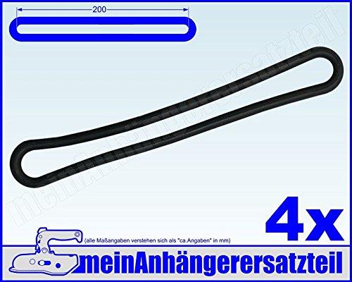 4x Gummi Spannring Gummiband für Pkw Anhänger Planen Anhängerplane 200mm schwarz