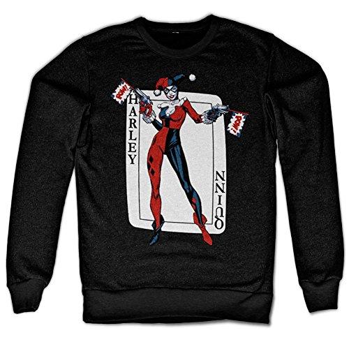 mes Sweatshirt (Schwarz) XX-Large (Harley Quinn Zeichen)