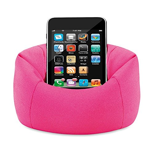 Bean Bag Mobile Holder Pink Colour easy to keep any where for iPhone, iPod, Samsung Pouch by Aart Store  available at amazon for Rs.99