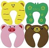 Bundle Monster 8 Türstopper zur Kindersicherung - weicher Finger-Klemmschutz - verschiedene Tiermotive
