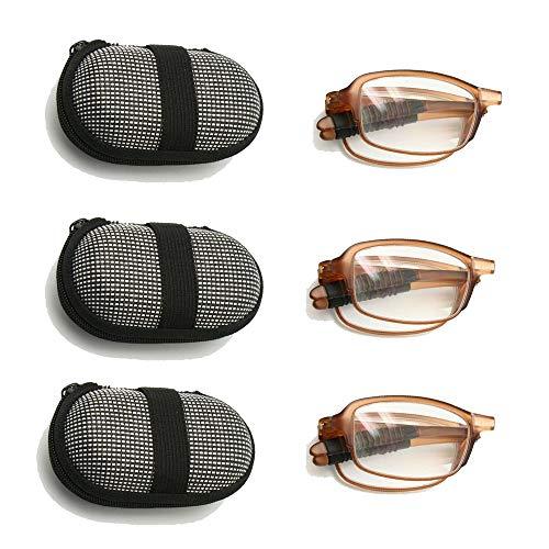 EnzoDate Paquete 3 pares gafas lectura plegables