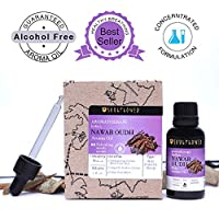 Nawab Oudh Aroma Oil by Soulflower, 100% Alcohol Free, Extremely Rare & Exotic Natural Fragrance Called Liquid Gold,One of The Most Endlessly Fascinating Oil, USFDA approved, 1 Fl.Oz