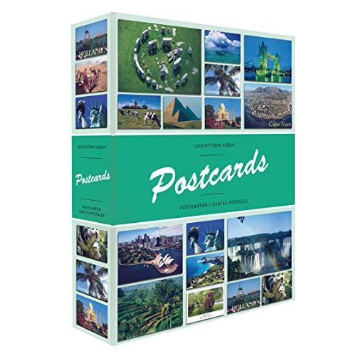 Leuchtturm 347770 Sammel-Album Postcards für 200 Postkarten, mit 50 festeingebundenen Hüllen