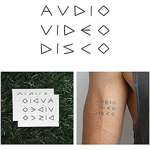 Tatuaje Temporal Tattify - Disco de Audio-Video – Club AV (Juego de 2)