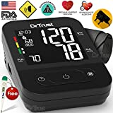 Dr Trust (USA) SMART Talking Automatic digital Blood Pressure testing Monitor BP Machine (includes Adapter, Carry Bag, Batteries and thermometer ) 1 YEAR WARRANTY