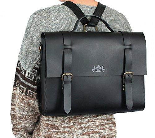 3b9b150db2 SID & VAIN® serviette BOSTON unisexe - grand mallette sacoche pour  ordinateur, étui PC portable 15 ...
