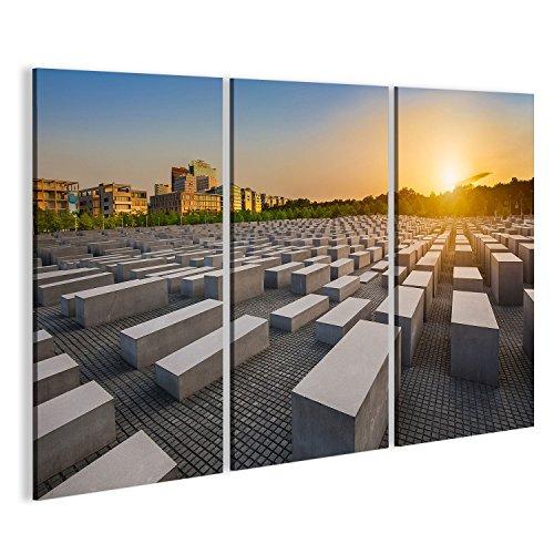 Cuadro Cuadros Famoso monumento al Holocausto judío en la Puerta de Brandeburgo Puerta de Brandeburgo ser Impresión sobre lienzo - Formato Grande - Cuadros modernos DRZ