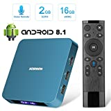 Android TV Box 8.1, Superpow TV Box 2.4G Voice Remote USB3.0 Rockchip 3328
