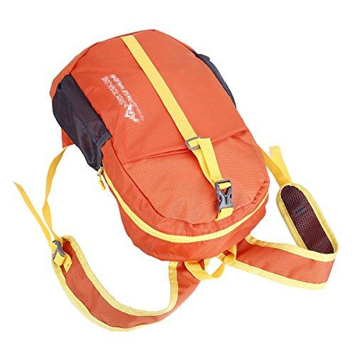 Outdoor Camping Wander Rucksack Reise Schultern faltbarer Beutel Orange