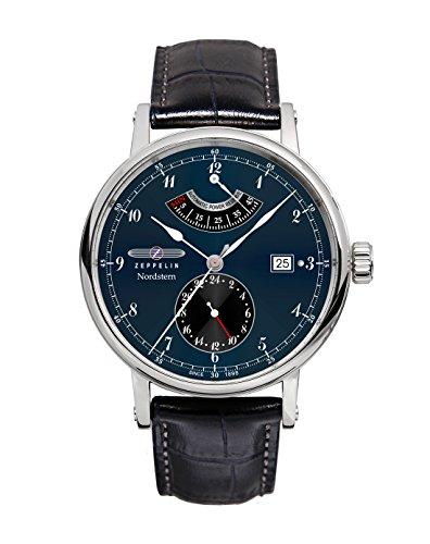 Zeppelin Watches 7560-3 - Reloj analógico automático para hombre, correa de cuero color negro