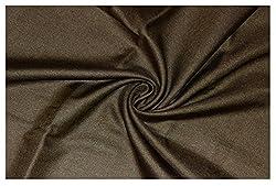 V Walkers Mens Poly Blend Solid Unstitched Trouser Fabric (1.30 Mtr_Brown_VST145)