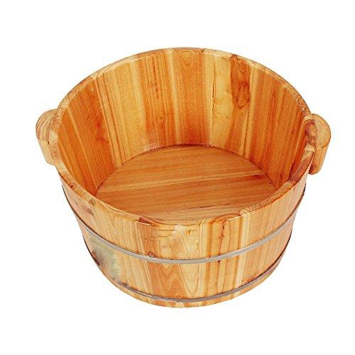 Bassin De Pied En Bois Pédicure Bowl Spa Massage Pied De Pin Parfumé Maison Baignoire Lisse Et Délicate Barils De Pédicure,A