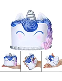Fossrn Squishy Unicornio Pastel Kawaii Squishy Grandes Y Baratos Kawaii Squeeze Con Olor Stress Relief Juguete AntiestréS