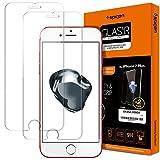 Spigen® **2 Pack** iPhone 7 Plus Panzerglas, **Easy Install Kit** iPhone 7 Plus Schutzfolie [9H gehärtetes Glas] Antikratz Ultra Clear aus hochwertigem Glas 0.33mm, Anti-Öl, Anti-Bläschen, iPhone 7 Plus Displayschutzfolie (043GL20801)