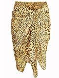 #4: INDIAN FASHION GURU Women's beautiful Leopard print beach wear sarong, pareo, wrap swimsuit cover up