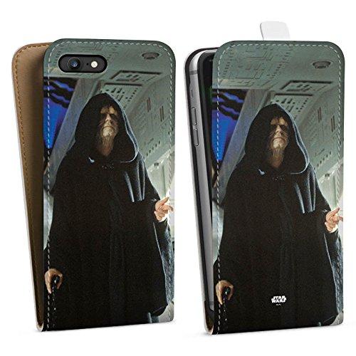 Apple iPhone X Silikon Hülle Case Schutzhülle Star Wars Merchandise Fanartikel Darth Sidious Downflip Tasche weiß