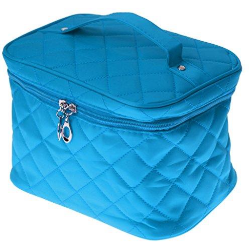 CUTICATE Nouveau Sac De Cosmétique Sac De Voyage De Maquillage Multifonction Pouch Toiletry Zip Organizer - Bleu Royal