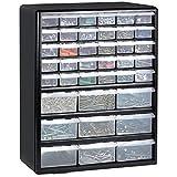 Gabinete de almacenamiento con 12cajones, azul, multi-herramientas, organizador de bricolaje, para almacenar tuercas y tornillos., negro
