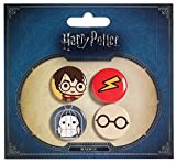 Harry Potter Cutie Button Badge 4-Pack Harry Potter & Hedwig Carat Shop Chiodini