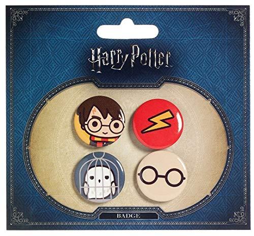 Preisvergleich Produktbild Harry Potter Cutie Button Badge 4-Pack Harry Potter & Hedwig Carat Shop Chiodini