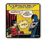 LOGOSHIRT - Batman Dessous de verre - DC Comics Sous-verre - Batman and Robin - Telephone ! - coloré - Design original sous licence