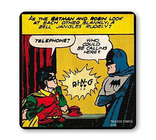 (Batman Untersetzer – Bierdeckel – Telephone - Lizenziertes Originaldesign - LOGOSHIRT)