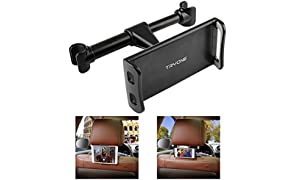 "Tryone Car Headrest Mount, Car Seat Tablet Holder for iPad/Samsung Galaxy Tabs/Amazon Kindle Fire HD/Nintendo Switch/Other Devices 4""-10.1"" (Black)"