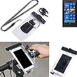 K-S-Trade® per Nokia Lumia 920 Supporto per bicicletta telefono cellulare Manubrio bici Impermeabile Connettore per cuffie Custodia Borsa Borsetta per smartphone sicura per Nokia Lumia 920 transparent