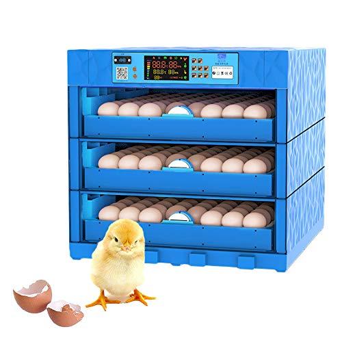 XINGV Vollautomatische Brutmaschine 192 Eier, mit intelligent digital und Feuchtigkeitsregulierung, Automatischem Wender, Für Huhn, Ente, Gans, Taube, Wachtel