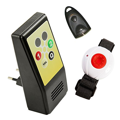 Pflegeruf-Set HelpLine Sicherheitspaket 1 (mit Steckdosenempfänger, Armband-/Halsbandsender und Quittierungs-Sender)