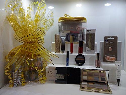 N ° 7 l'Ultime Époustouflants Beauté Make Up Panier cadeau pour elle Cadeau Emballé Ensemble cadeau - 10pc Beauté Panier cadeau Édition spéciale. 004.