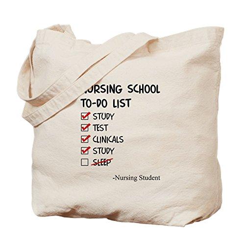 CafePress-Still Student Aufgabenliste Liste-Leinwand Natur Tasche, Reinigungstuch Einkaufstasche M khaki