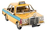 LB H&F Taxi Blechauto Retro 16 cm Gross LILIENBURG handgefertigtes Deko Blechmodell im Vintage Design