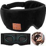 Antifaz de Dormir Bluetooth 5.0 Inalámbrico Auricular de Dormir Mácara de Ojo 3D con Altavoces HD Ultradelgados Ajustable, Antifaz para Dormir Viaje Meditación