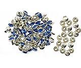 Weddecor 10 x 8 mm ab Farbe Acryl Strasssteine Diamant NIET BOLZEN - Modeaccessoire für Leder Handarbeiten,Designer Bekleidung,Riemen,Beutel,Hundehalsband - Königsblau, 50