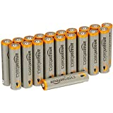 AmazonBasics Lot de 20 piles alcalines Type AAA 1,5 V 1340 mAh (design variable)