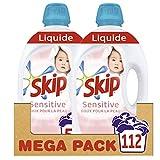 Skip Lessive Liquide Sensitive Hypoallergénique, Spécial Bébés & Peaux Sensibles 112 Lavages (Lot de 2x56 Lavages)