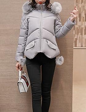 TT & ShangYi Standard relleno de mujer, Abrigo Simple Moda Ciudad sofisticato Sport para USCIRE tinta unita otro...