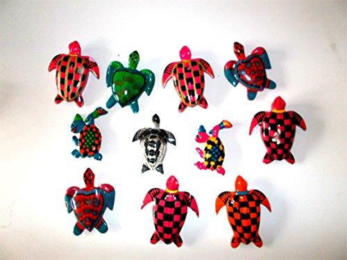 11er Set Schildkröten Magnete aus Holz - Pinnwandmagnete, Holzmagnete, Geschenkidee, Kinderzimmer Deko, Küchenmagnet, Restposten Sale