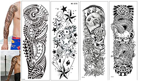 4 Bögen vollen Arm Tattoos Full Arm Tattoos Männer Tattoos Würfel 4