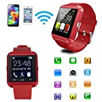U8 Bluetooth Smart Watch Phone With Camera and Apps like Facebook and WhatsApp Touch Screen Multilanguage Android/IOS Mobile Phone Wrist Watch Phone with activity trackers and fitness band features compatible with Samsung IPhone HTC Moto Intex Vivo M...