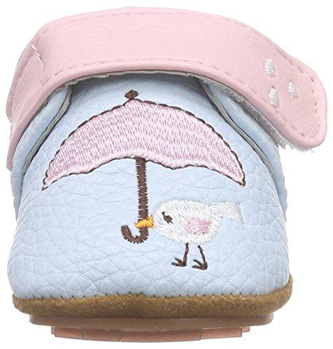 Rose & Chocolat Birdy Umbrella Baby Blue, Chaussons pour enfant bébé fille Bleu - Bleu