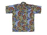 Ontop-Fashion Hawaiihemd Hawai Freizeit Hemd Shirt Viskose Blumen Früchte Sterne bunt Ornamental, Größe:XL
