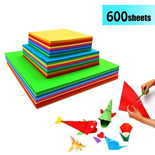 Origami Papier Faltpapier - 600 Blatt Doppelseite Bastelpapier Set für Origami und Bastelprojekte