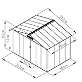 XXL Metall Gerätehaus 277x191x192cm Geräteschuppen Garten Schuppen Gartenhaus Satteldach (Grau)