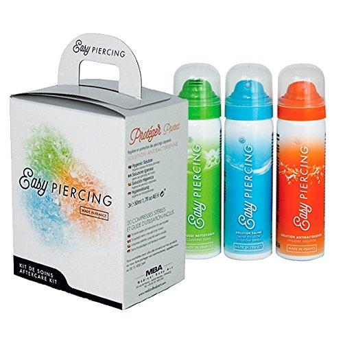 EASYPIERCING Pflegeset 3x 50 ml + 20 Kompressen Piercing-Pflege Reinigungs-Spray